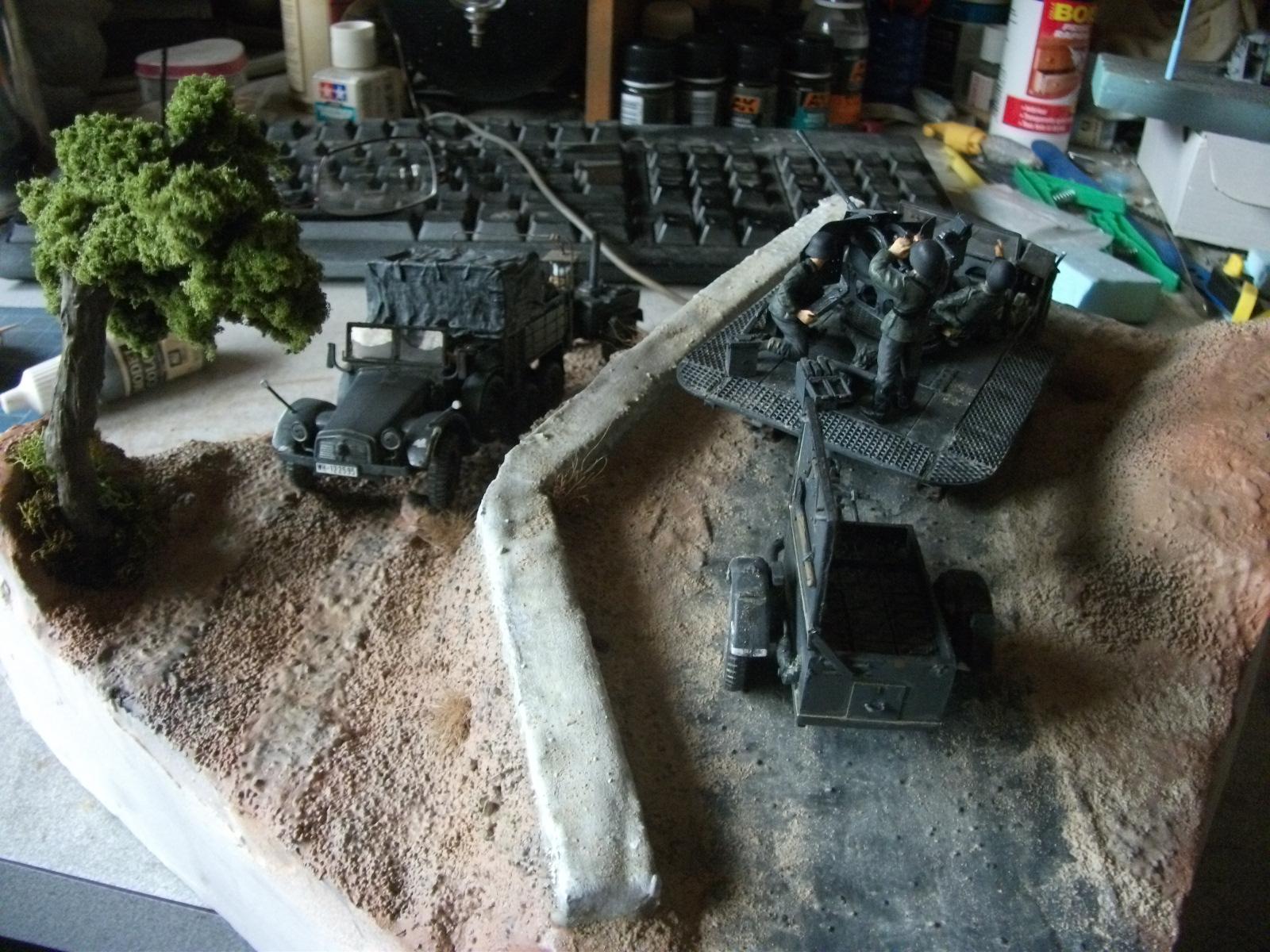 sdkfz - SdKfz 10/4, Krupp Protze et fieldkitchen au 1/48 DSCF1115