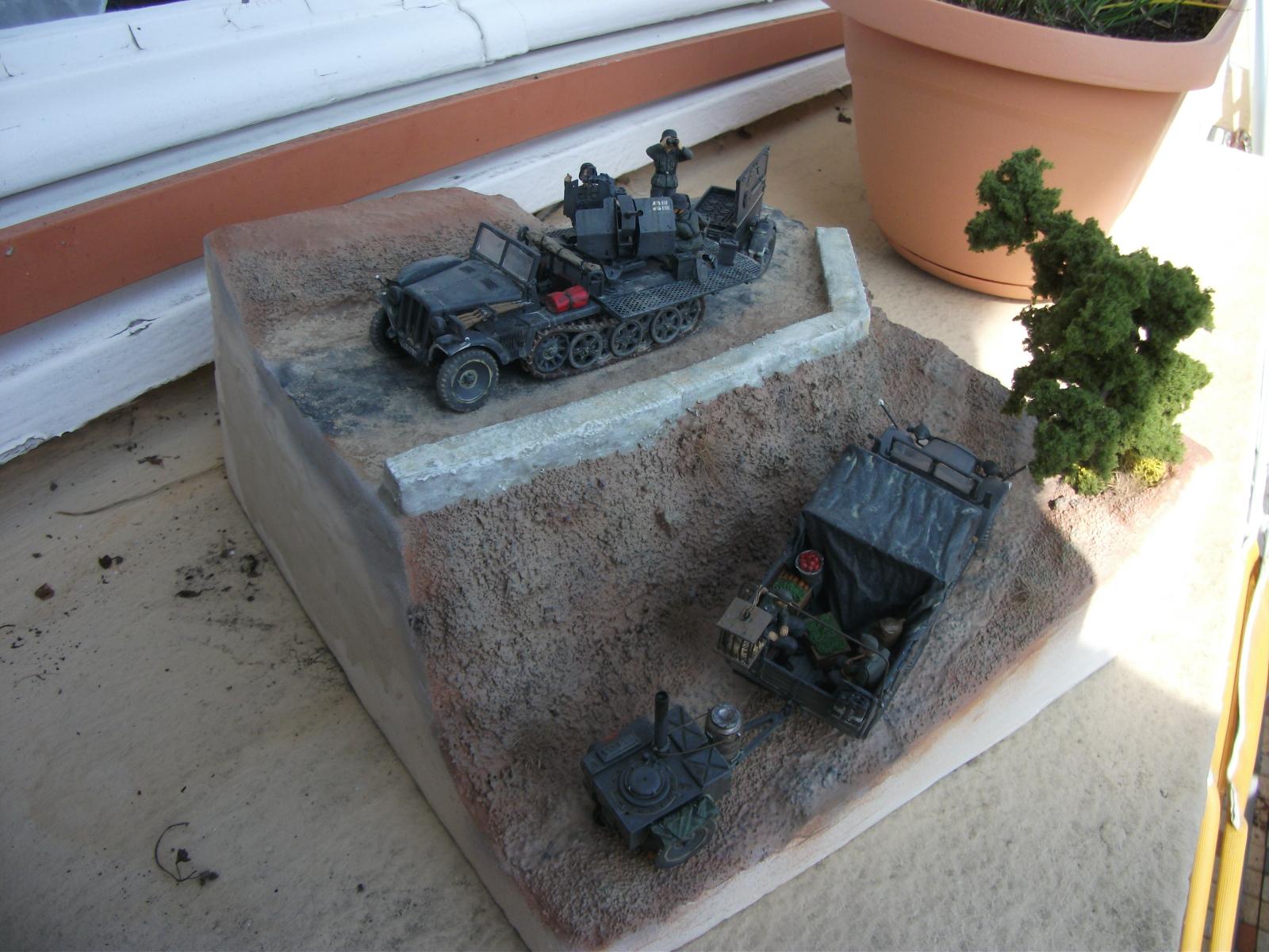 sdkfz - SdKfz 10/4, Krupp Protze et fieldkitchen au 1/48 DSCF1121