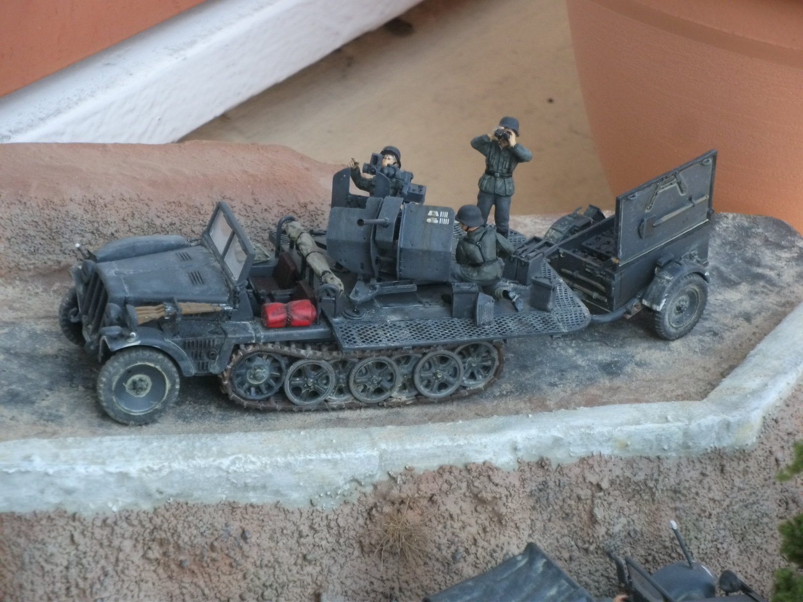 sdkfz - SdKfz 10/4, Krupp Protze et fieldkitchen au 1/48 DSCF1123