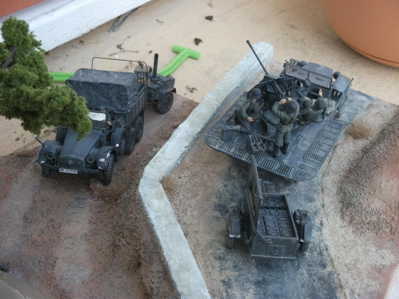 sdkfz - SdKfz 10/4, Krupp Protze et fieldkitchen au 1/48 DSCF1124
