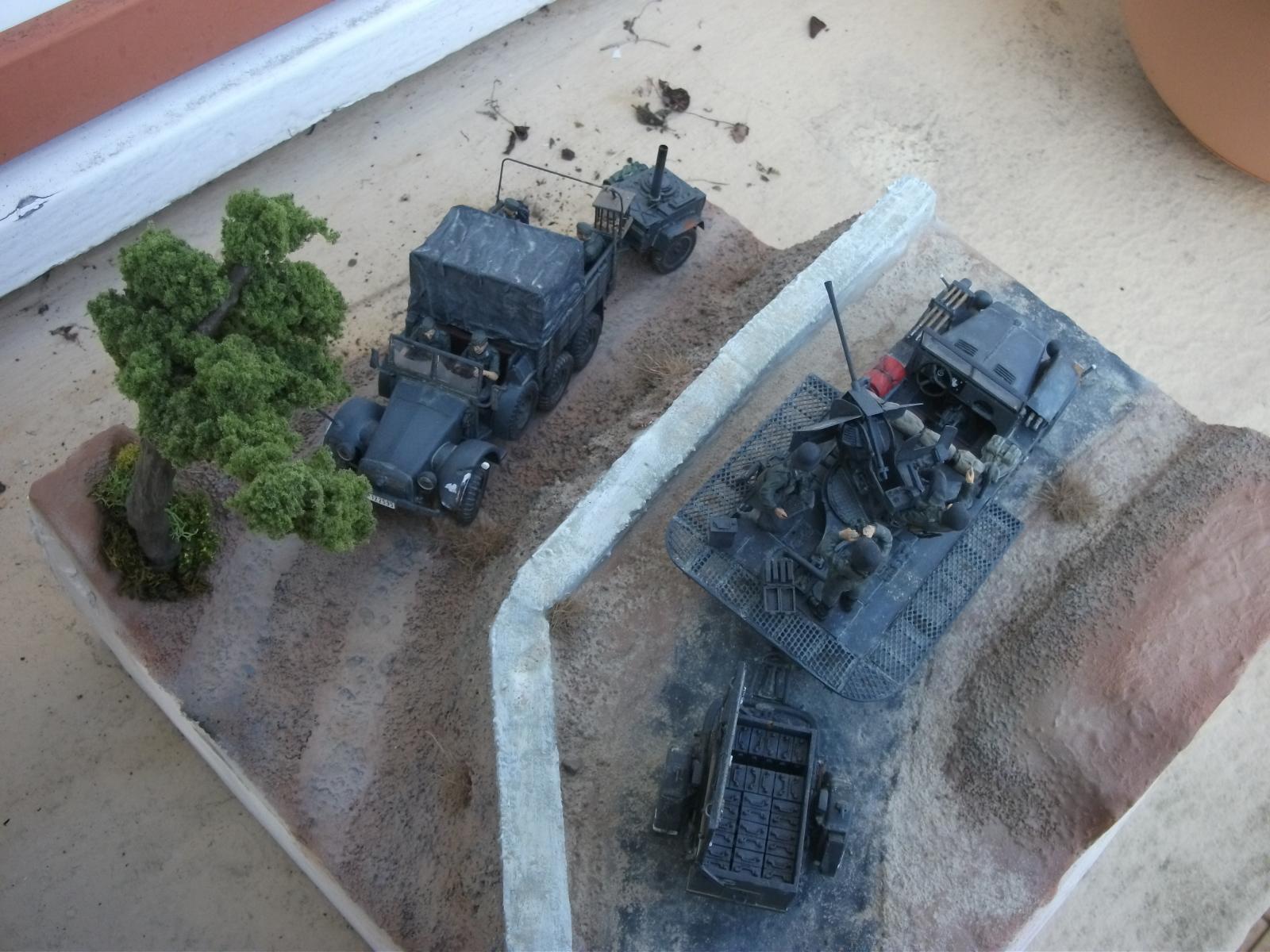 sdkfz - SdKfz 10/4, Krupp Protze et fieldkitchen au 1/48 DSCF1125